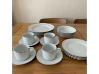 16 Piece White Royal Worcester Dinner Set (plates, bowls, side plates and teacups)
