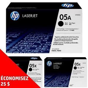Cartouches de toner d'origine HP05A/X – Achetez directement de HP et économisez! Achetez-en deux, obtenez 25$ de rabais