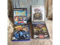 PlayStation 2games crash bandicoot , Rayman and ratchet and clank