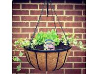 New Real Georgian Style Hanging Baskets (Metal)
