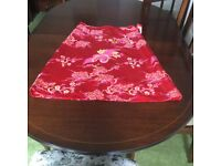 Red Diva Vintage Embroidered Silk Skirt.