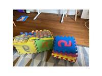 Kids foam play mats letters numbers