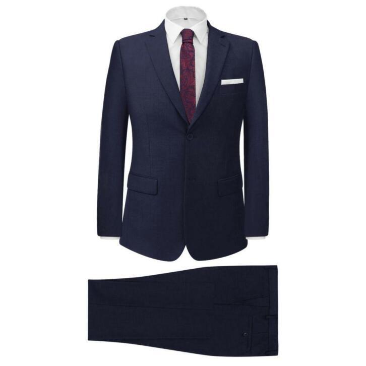 vidaXL Costume pour hommes 2 pièces Bleu marine Taille 56