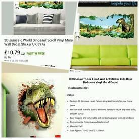 Brand new Dinosaur room decor