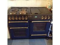 Electric range cooker blue