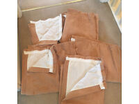 Pencil Pleat Lined Curtains x 7 pairs
