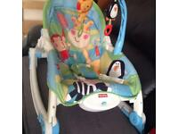 Fisher price adjustable / musical baby chair / rocker.