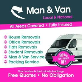 Cheap Man And Van £20p/h Removals Services
