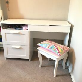 Ikea dressing table with drawers, stool. Good as new