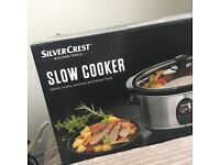 Silver Crest Silver Slow Cooker. 3L 200W. Used Few Times. Great Condition