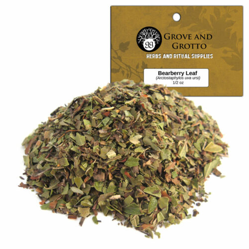 Bearberry Leaf 1/2 oz Package Ritual Herb Wildcrafted C/S by Grove and Grotto