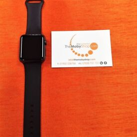 Apple Watch (Space Grey, Series 1, Black Wrist Straps)