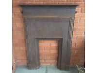 Antique Cast Iron Fireplace Grate Vintage Fire Place Fire surround Fire Grate