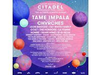 2 x Citadel Festival Tickets (15th July 2018)