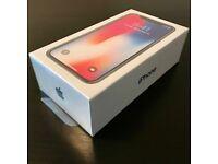 Brand New iphone X space grey 64 gb sealed unlocked