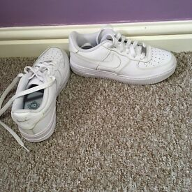 Women's Air Force 1 Nike size 4 only worn 1 brand new