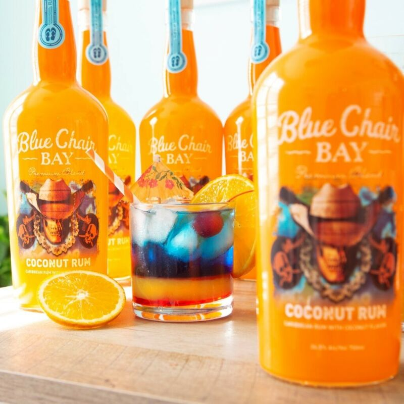JUST RELEASED - K. Chesney Blue Chair Bay Coconut Rum 2019 Commemorative EMPTY!
