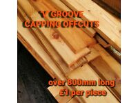 'V' Groove Ridge Capping Offcuts
