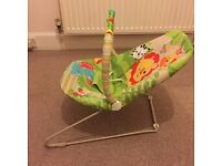 Fisher Price Rainforest Friends Baby Bouncer in excellent condition