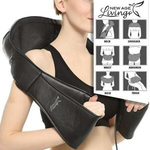 Shiatsu Neck & Shoulder Massager with Heat - Premium Quality (Black) - Free Shipping