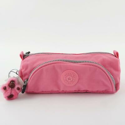 KIPLING CUTE Pen Case Pouch Cool Pink
