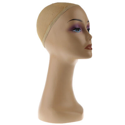 Female Mannequin Head Wig Hair Scarf Display Model Stand Practicalhairnet