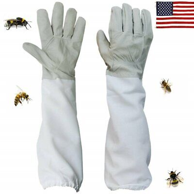 Beekeeping - 2pcs Useful Gloves Sleeves Protection Ventilated Long Professional