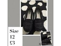 Girls sparkly loafers size 12