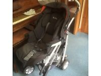 Just like new, Silver Cross pram with carrycot, car seat, bag, etc.