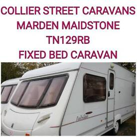 4 berth fixed bed caravan ace jubilee