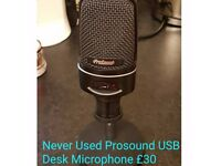 ProSound USB2.0 HQ Podcast/Vocal Microphone