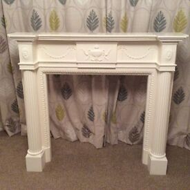 White decorative fireplace