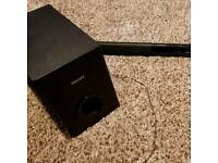 Phillips 120w Soundbar and Wired Subwoofer