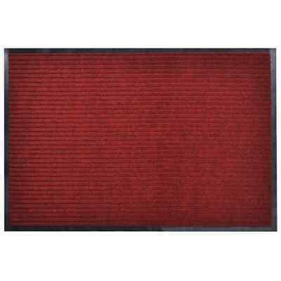 vidaXL Antideslizante Bienvenida Piso Felpudo Alfombra Entrada PVC Roja 90X60cm