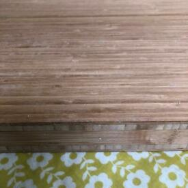 Bamboo worktop off cut solid wood chopping board 62x46cm 4.2cm thickness