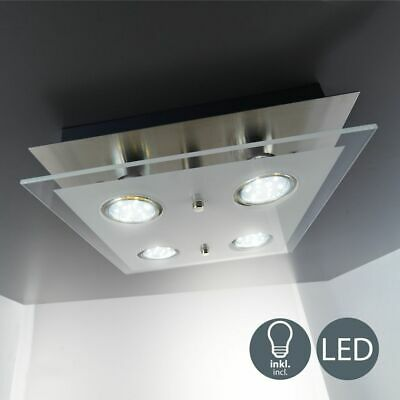 Lámpara LED De Techo Anguloso 4x Bombilla Dormitorio Wohnzimmer-Beleuchtung