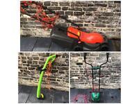 Garden bundle: lawn mower, rotavator, strimmer