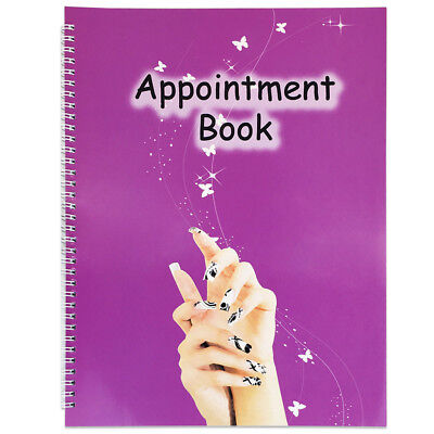 4 Columns Salon Beauty Nails Schedule Planner Organizer Appointment Book