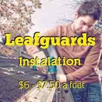 LEAFGUARD installation $6-$7.50