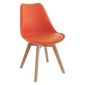 "Habitat Chair ""Jerry"" in Orange - Set of 2"