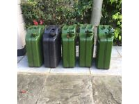 Metal Jerry cans £10 ea or £40 for 5