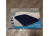 DOUBLE AIRBED DELUXE WITH ELECTRIC AIR PUMP - BRAND NEW - STILL IN BOX - NEVER BEEN USED