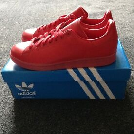 BNIB - Adidas Red Trainers - size 8 - never worn - immaculate condition