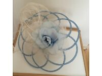 Designer pale blue fascinator