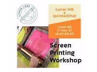 Screen printing evening class