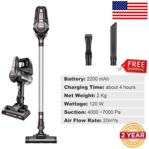 Finether Cordless Stick Vacuum Cleaner Bagless w/ 5 Attachme