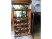 Rustic Style Wooden Wine Rack