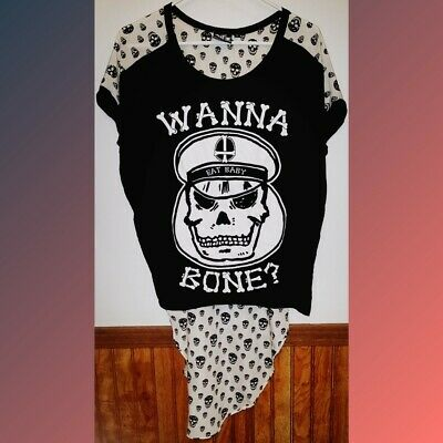 UNIQUE Rat Baby Skull Shirt Dress Gothic Style