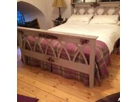 Vintage Hand Painted King Size Bed