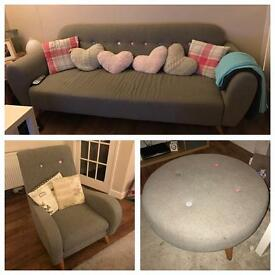 DFS Sofa, Chair & Stool!